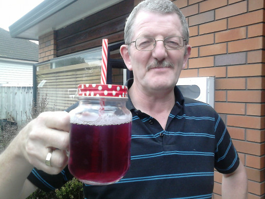 Grape juice made from our own cordial