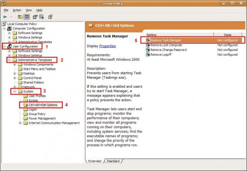 Group Policy of Task Manager