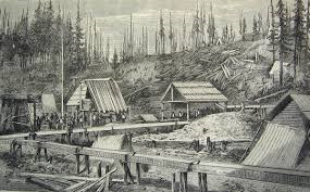 Sawmill camp of the late 1930's.