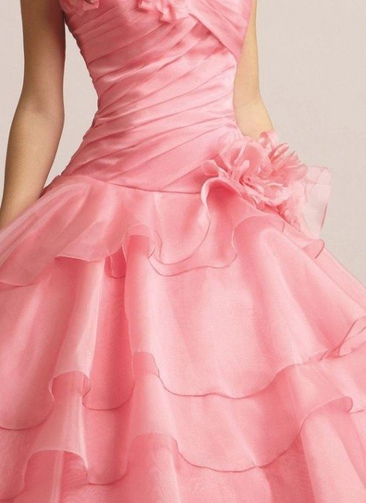 Or be that bell who wore a strawberry pink wedding gown.