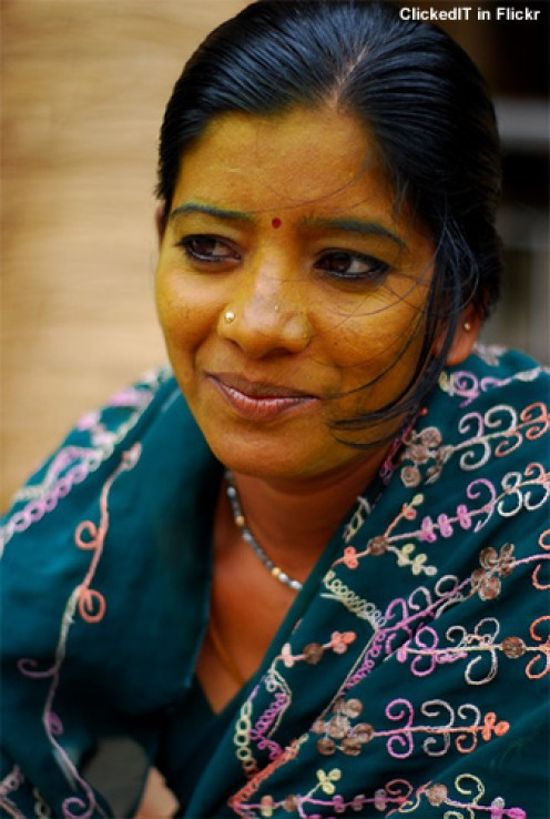 Indian women in rural India still apply pure turmeric on their face.