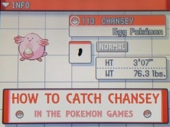 How to Catch Chansey in the Pokemon Games