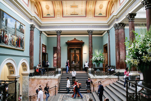 The Entance Hall of the National Gallery in London