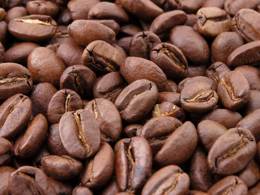 Fresh roasted coffee beans--freshness is essential for great coffee.