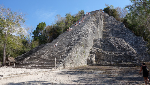 Nohuch Mul, the tallest pyramid on the Yucatan peninsula, Cobá, Quintana Roo.