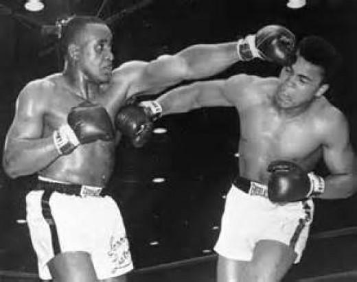 Muhammad Ali (then Cassius Clay) beat Sonny Liston in 1964 to become king of the heavyweights.