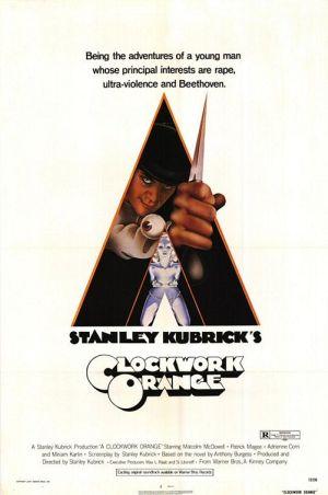 """""""A Clockwork Orange"""" (1971) film poster."""