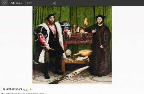 "Screenshot of ""The Ambassadors"" by Hans Holbein the Younger at the Google Art Project website"
