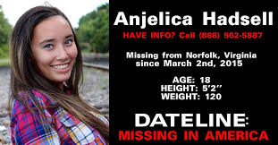 "Anjelica ""AJ"" Hadsell is missing"