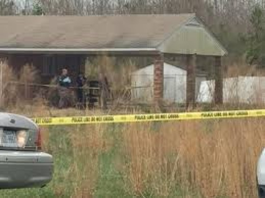 The abandoned home authorities found human remains at on Thursday.