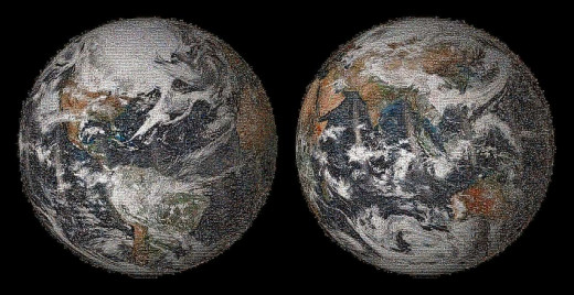 NASA had people send in from all over the world their locations pictures on Earth Day at Gigapan website.