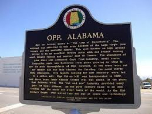 Opp, Alabama historical marker
