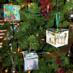 DIY Greeting Card Tree Ornaments
