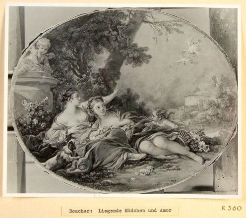 Artist: François Boucher Title: Pastoral Scene Confiscated Collection: R 360 (Rothschild Collection, France)