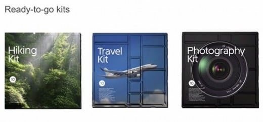 Kits for users.