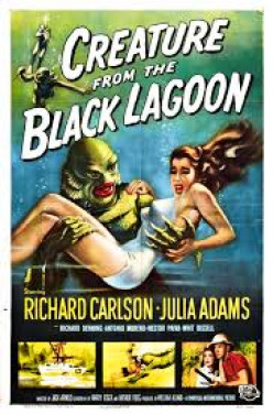 The classic Creature From The Black Lagoon and with a pretty girl of course.