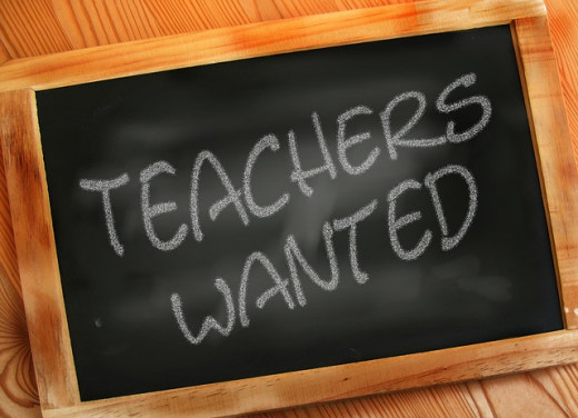 blackboard with the words printed teachers wanted