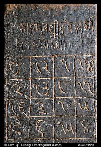 Inscriptions on walls - KHAJURAHO