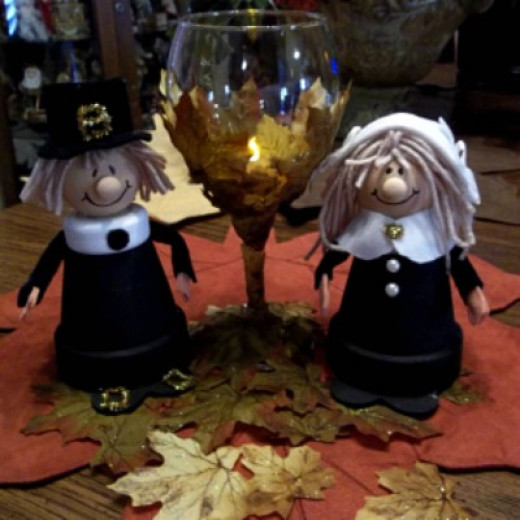 arts and crafts ideas for couples pilgrim centerpiece craft hubpages 7448