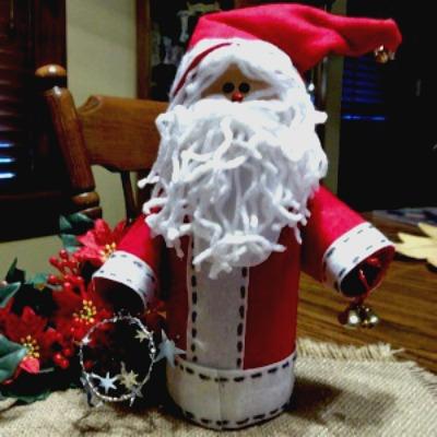 creamer santa craft, santa from creamer bottle