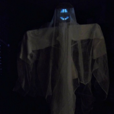 how to make a solar light ghost, halloween craft