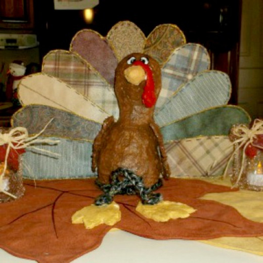 paper mache clay turkey craft