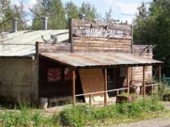 An abandoned saloon.