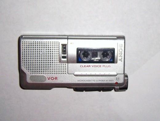My micro-cassette tape recorder.