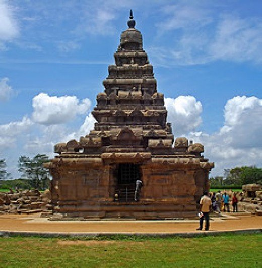 Beach temple at mahabalipuram, India