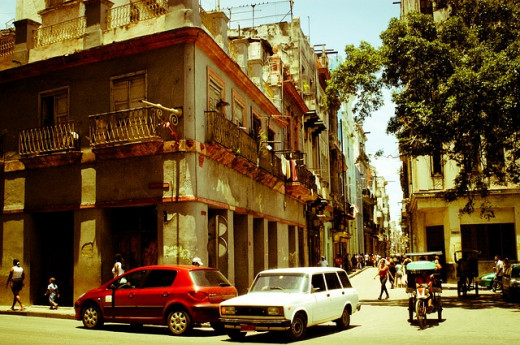 Average street corner in Havana.