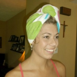 Simple Shower Turban to Sew