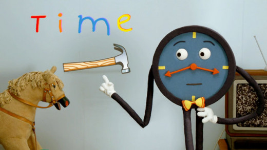 The one to teach viewers about time in Don't Hug Me I'm Scared. He's a jerk.