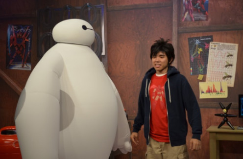 Hiro and Baymax at a Disney Hollywood Studio's meet-and-greet; characters drawn from a little known, and long forgotton Marvel comic that has struck gold.