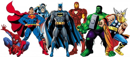 These are images of superheroes.