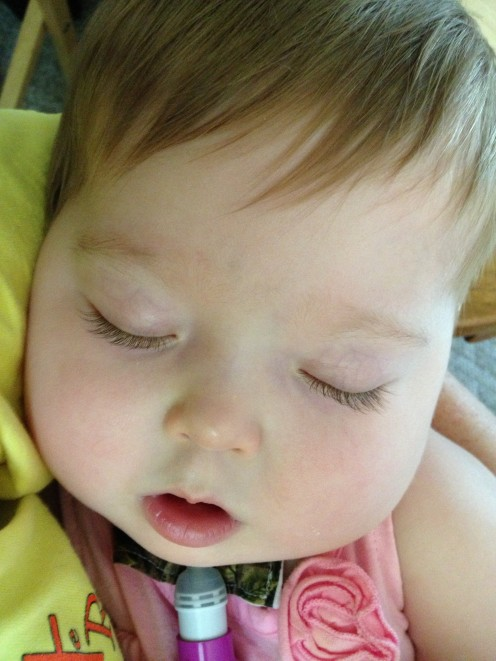 Rest like a baby (photo of my granddaughter about 2 years ago)