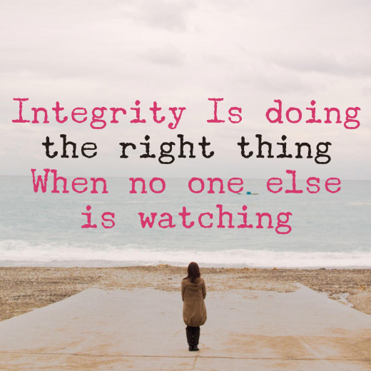 "Leadership Quote: ""Integrity id doing the right thing when no one is watching."" C. S. Lewis"