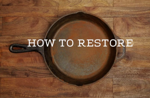 how to restore cast iron pans. Black Bedroom Furniture Sets. Home Design Ideas