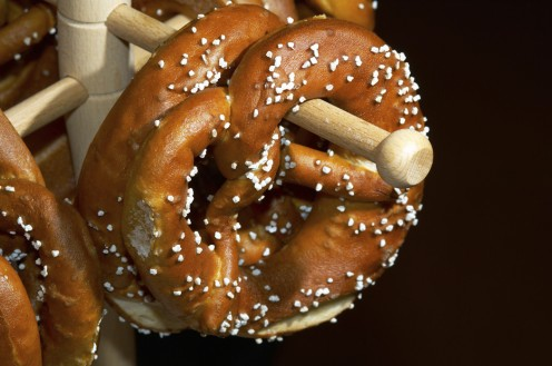 Enjoy a pretzel at Oktoberfest