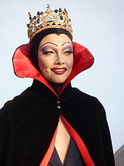 The wicked queen in Snow White
