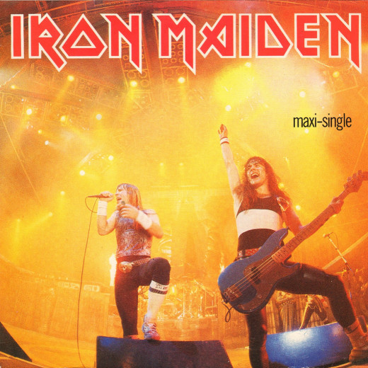 "Iron Maiden ""Running Free"" Live 12"" Maxi Single"