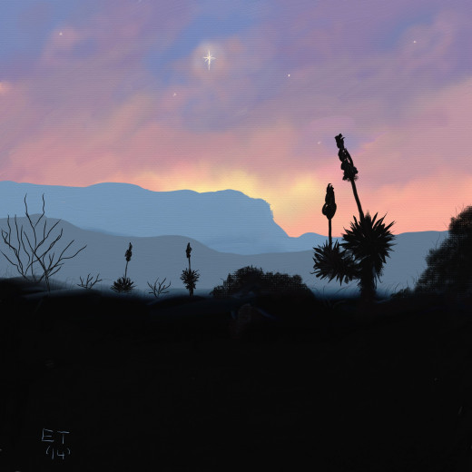 'New Mexico Christmas' Prints of this painting are available at http://instaprints.com/profiles/1-ellie-taylor.html  I created this painting in ArtRage on my Note Pro 12.2. It gives a very nice natural media look.