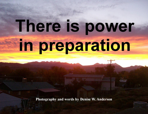 When we increase our knowledge through preparation, we give ourselves power to act.