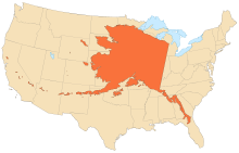 Size of Alaska compared to U.S.