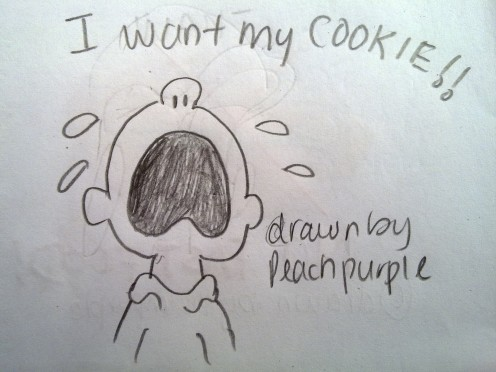 """I want my cookie!"" something that Charlie Brown loves to do, crying, wailing?"