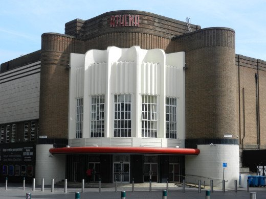 The classic cinema architecture of the former Queen Street, Odeon.