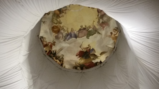 "The ""Apotheosis of George Washington"" is a pretty famous painting on the ceiling!"