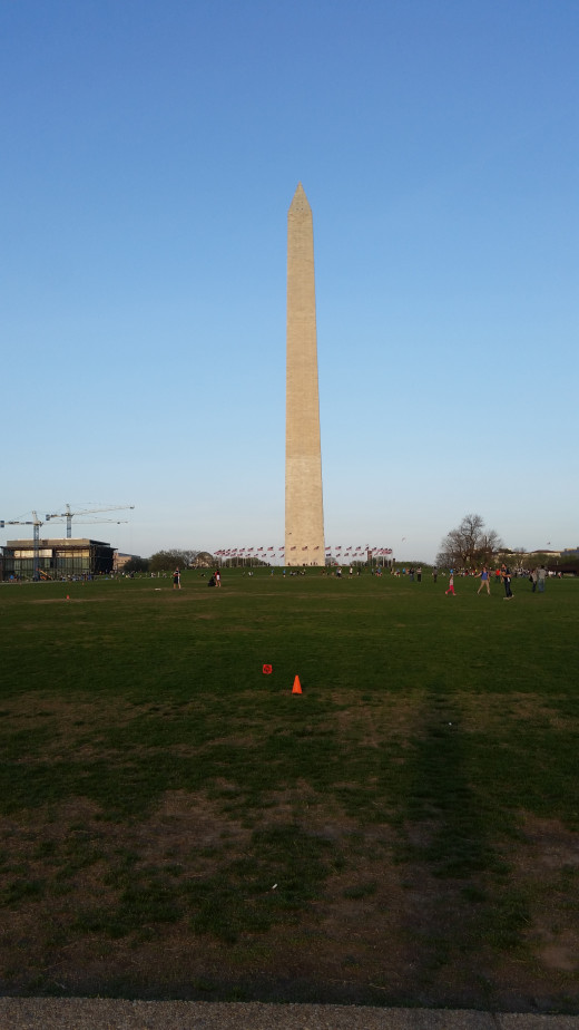 The Washington Monument! Do you remember which president this was created in memory of? He was famous for being our first United States President! You used to be able to go all the way to the top, but it became really unsafe!