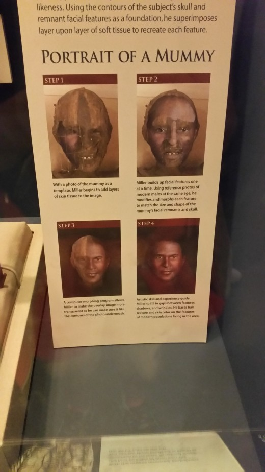 Computers now are so great that we can use them to try to come up with a picture of what the person might have looked like before they became a mummy!