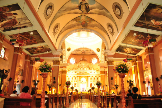 Inside Binondo Church