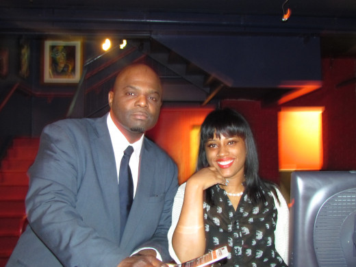 """Staff members of the very popular """"Warmdaddy's"""" in Philadelphia, Pa where Point Blank performed."""
